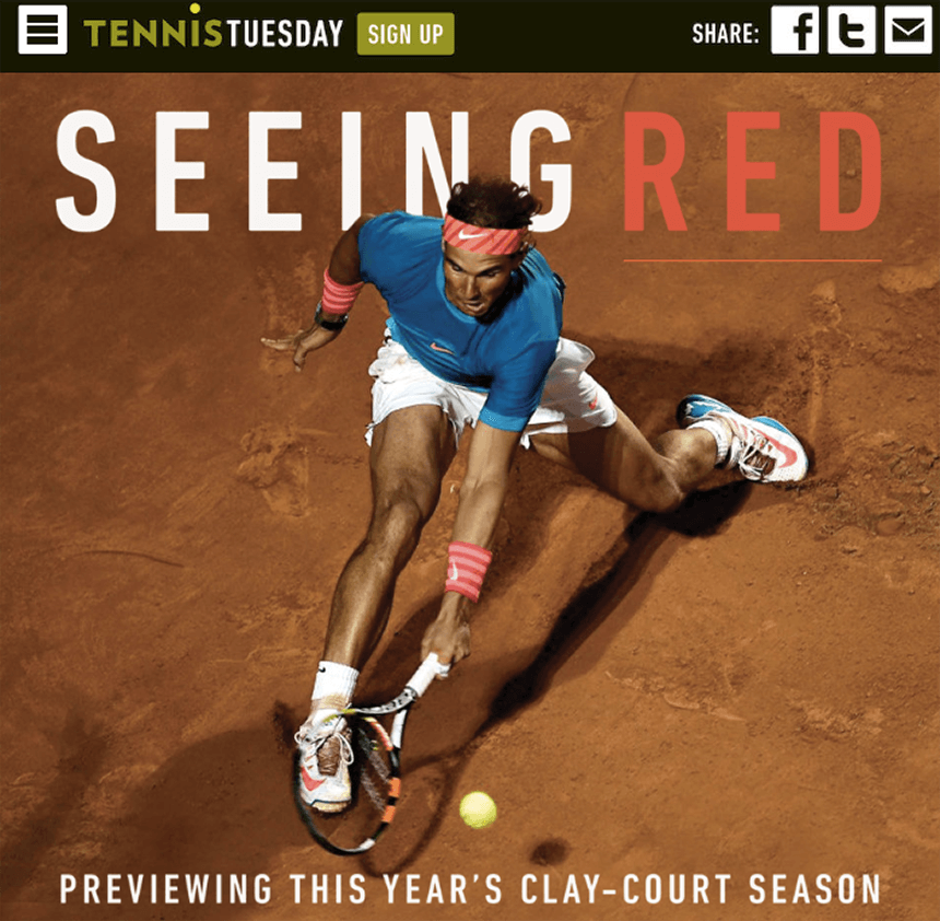 Tennis Tuesday: Interactive Magazine