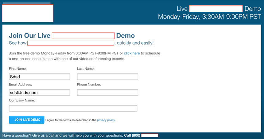 Good User Experience in Lead Generation: Decluttered Form