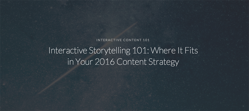 Interactive Storytelling 101