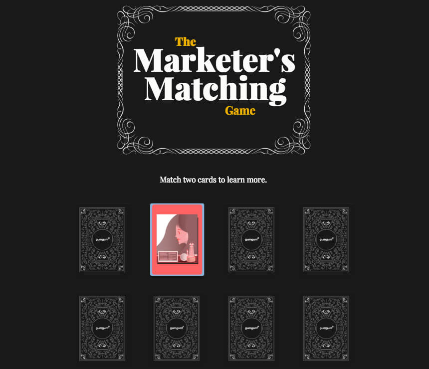 Interactive Matching Game digital storytelling example