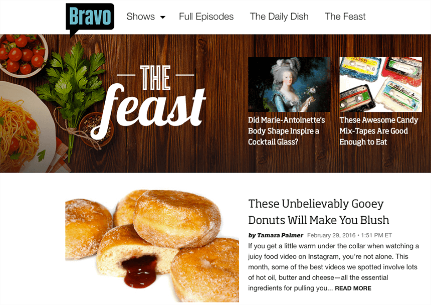 The Feast - Examples of Brand Publishers