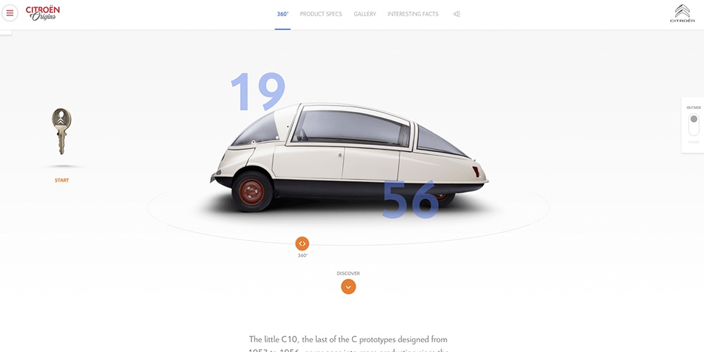 Citroen Origins Homepage