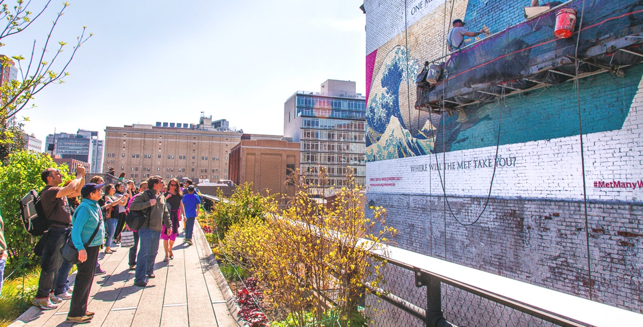 Hand Painted Advertisement on the High Line in Manhattan