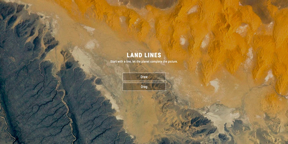 Land Lines Google Chrome Experiment