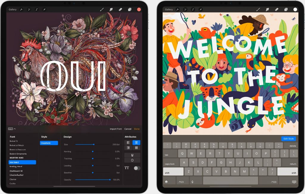 The best drawing app for illustrators for iPad is Procreate