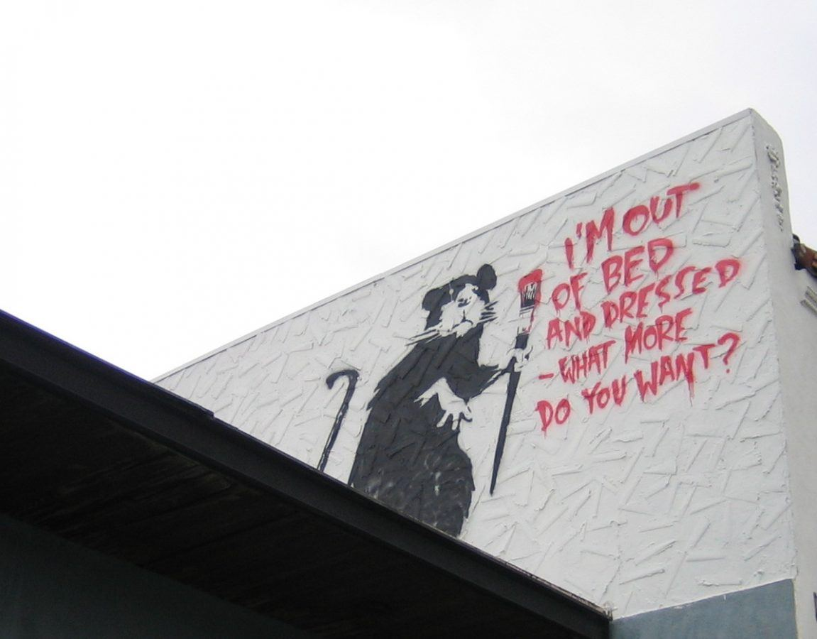 banksy rat art